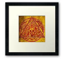 Witchfather sigil Framed Print