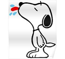 Snoopy Grimace Poster
