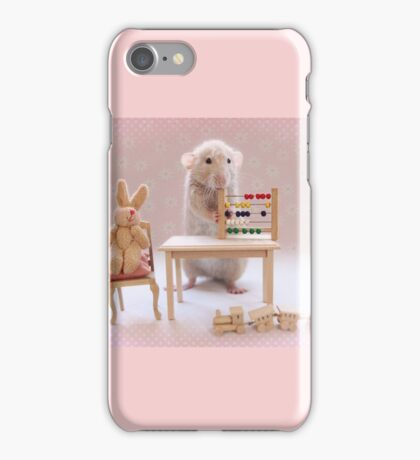Poppy learning to count! iPhone Case/Skin