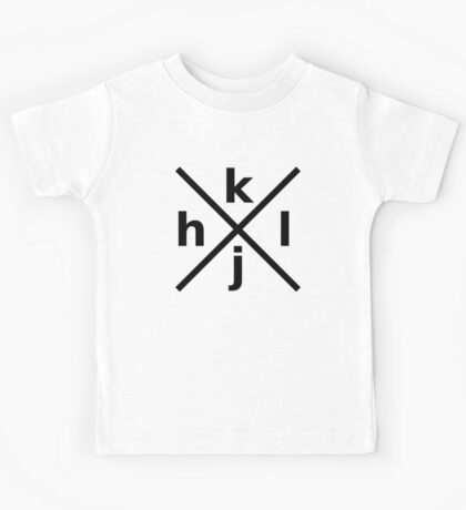 hjkl for Hardcore Vi/Vim Hackers - Black Font Kids Tee