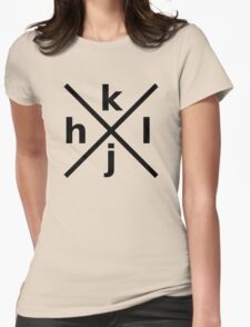 hjkl for Hardcore Vi/Vim Hackers - Black Font Womens Fitted T-Shirt