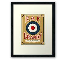 vintage R.A.F. Brandy French liquor bottle label modern remake Framed Print