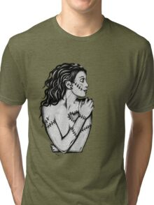 Heartbreak Zombie Doll Girl Tri-blend T-Shirt