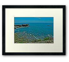 Tanjung Kodok Beach of Lamongan East Java Indonesia Framed Print