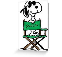 Snoopy Movie Greeting Card