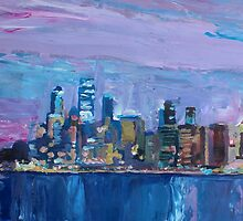 Sydney Skyline with Opera House at Dusk by artshop77
