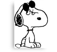 Snoopy Joe Cool Canvas Print