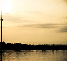 Tower of Kumala Island silhouette located at Tenggarong Kutai Kartanegara East Borneo by PutroGraph