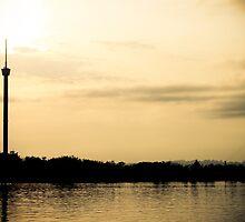 Tower of Kumala Island silhouette located at Tenggarong Kutai Kartanegara East Borneo by PutroGraph