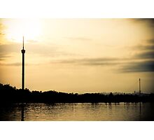 Tower of Kumala Island silhouette located at Tenggarong Kutai Kartanegara East Borneo Photographic Print