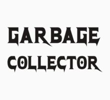 Garbage Collector - Metal Style Design for Programmers Black Font Kids Tee