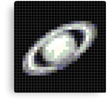 Pixelated Saturn Canvas Print
