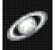 Pixelated Saturn Photographic Print