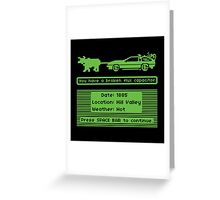 The Delorean Trail Greeting Card