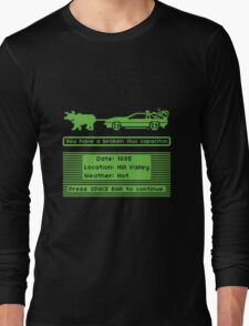 The Delorean Trail Long Sleeve T-Shirt