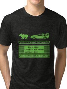 The Delorean Trail Tri-blend T-Shirt