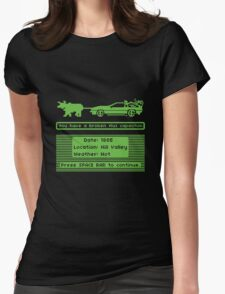 The Delorean Trail Womens Fitted T-Shirt