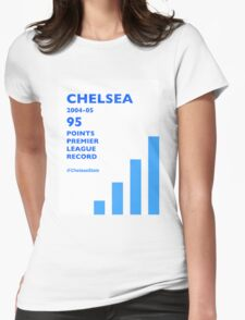 95 Points Premier League Record - Chelsea 2004/05 Womens Fitted T-Shirt