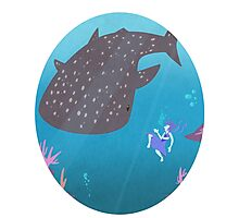 Lapis and the whale shark Photographic Print