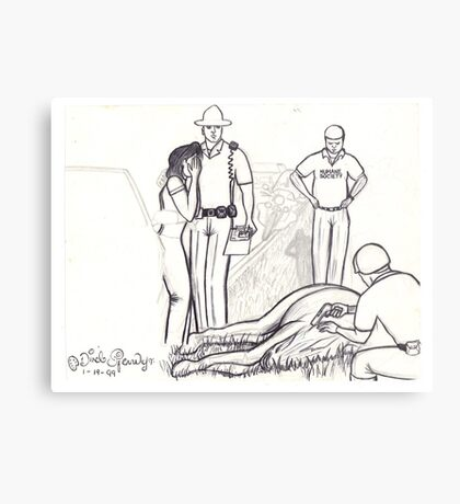 wounded horse Metal Print