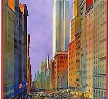 Vintage Travel Poster 5th Avenue New York by mrtart