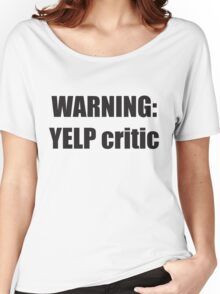 Warning Yelp Critic Tshirt | South Park Tee Cartman Butters Randy Kenny Stan Kyle Mens & Womens sizes | Cool Funny Geeky Gamer T-shirt Women's Relaxed Fit T-Shirt