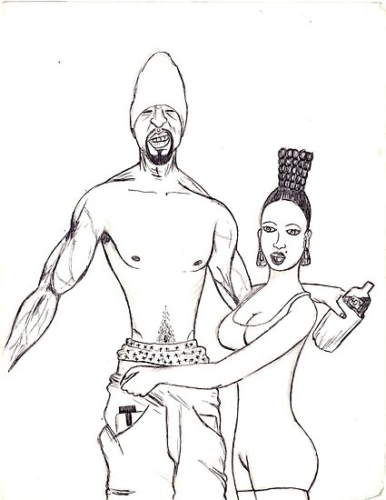 the pimp and the hoochie by odinel  pierre junior