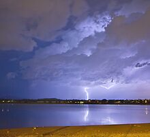 Lake View Lightning Thunderstorm by Bo Insogna