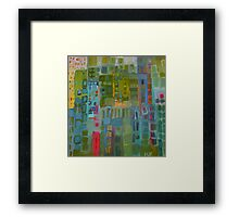 the green city Framed Print