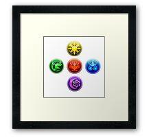 5 Elements Framed Print
