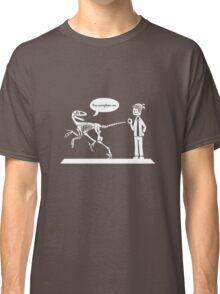 """""""You Complete Me"""" Deinonychus and Paleontologist Toon Classic T-Shirt"""