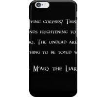 Maiq talking about Corpses iPhone Case/Skin