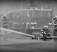 Fire Truck - British Columbia Canada by Natasha Litia