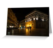 The magical Duomo Square in Ortygia, Syracuse, Sicily Greeting Card