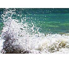 Waves crashing on the rocks close Photographic Print