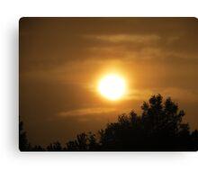 Sun Set - British Columbia Canada Canvas Print