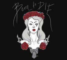 "Lana Del Rey ""Born to Die"" - BW and Red version by Paige K"