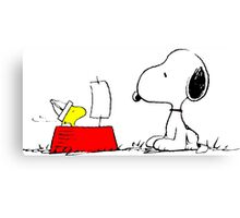 Woodstock and Snoopy Canvas Print