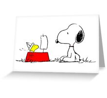 Woodstock and Snoopy Greeting Card