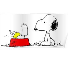 Woodstock and Snoopy Poster