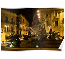 Diana Fountain -  Syracuse, Sicily Poster