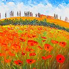 Poppies in Tuscany by HelenBlair