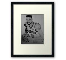 Basketball Drawing Print Framed Print