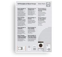 10 Principles of Good Design Metal Print