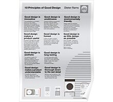 10 Principles of Good Design Poster