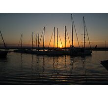Syracuse Harbour Sunset Photographic Print