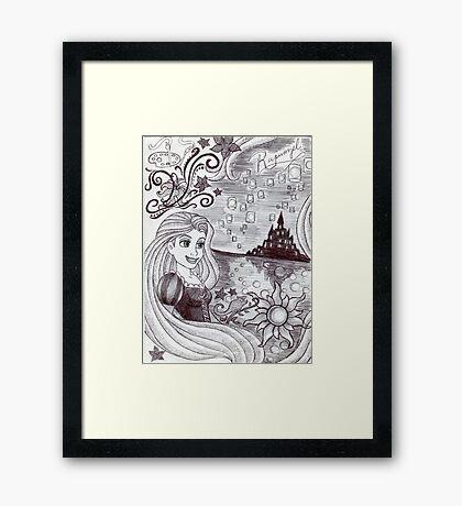 Monochrome Princess R Framed Print