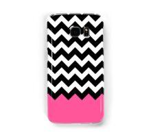 Pink Black White Chevron Zigzags Samsung Galaxy Case/Skin
