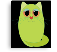 CAT CHARTREUSE ONE Canvas Print