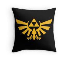 Royal crest The Legend of Zelda Triforce Video Game Logo Throw Pillow